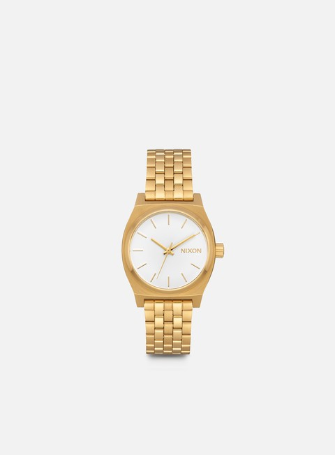 accessori nixon medium time teller all gold white