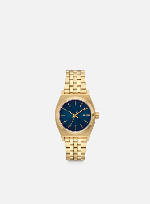 accessori nixon medium time teller all light gold cobalt