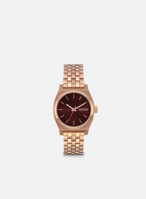 accessori nixon medium time teller all rose gold brown