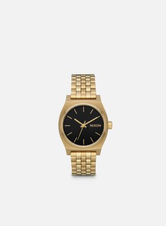 Nixon - Medium Time Teller, Light Gold/Black Sunray