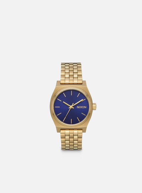 accessori nixon medium time teller light gold indigo sunray