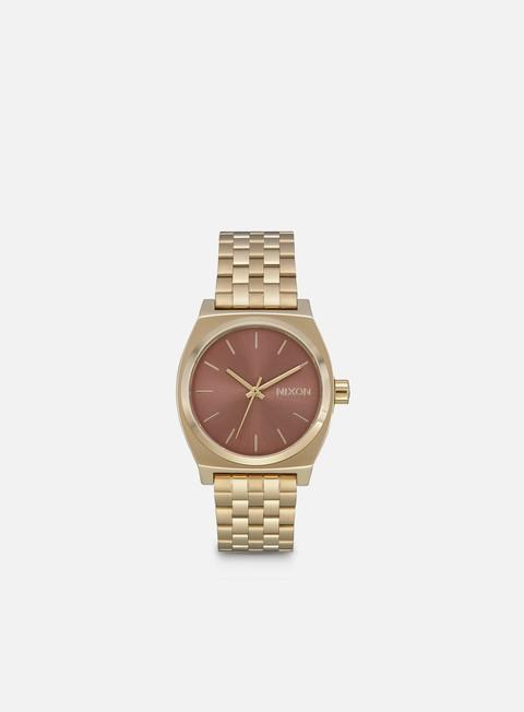 accessori nixon medium time teller light gold marsala