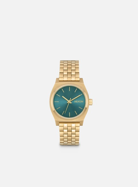 accessori nixon medium time teller light gold turquoise