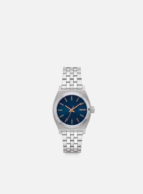 accessori nixon medium time teller navy rose gold
