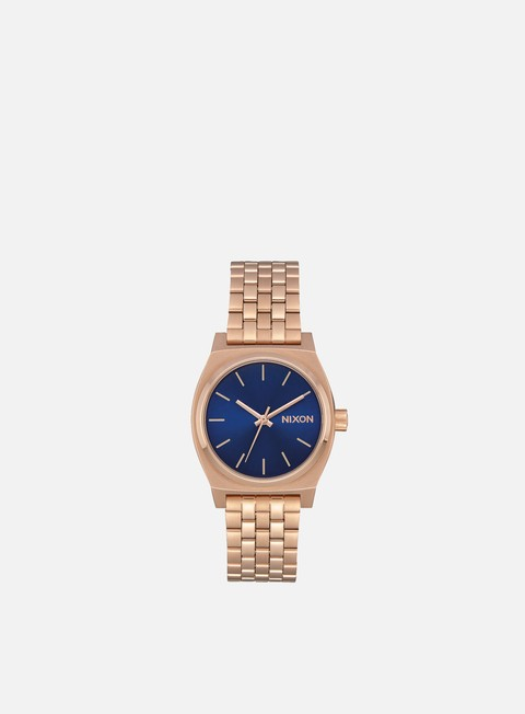accessori nixon medium time teller rose gold indigo black