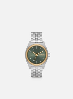 Nixon - Medium Time Teller, Silver/Gold/Agave