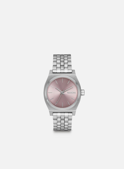 accessori nixon medium time teller silver pale lavender