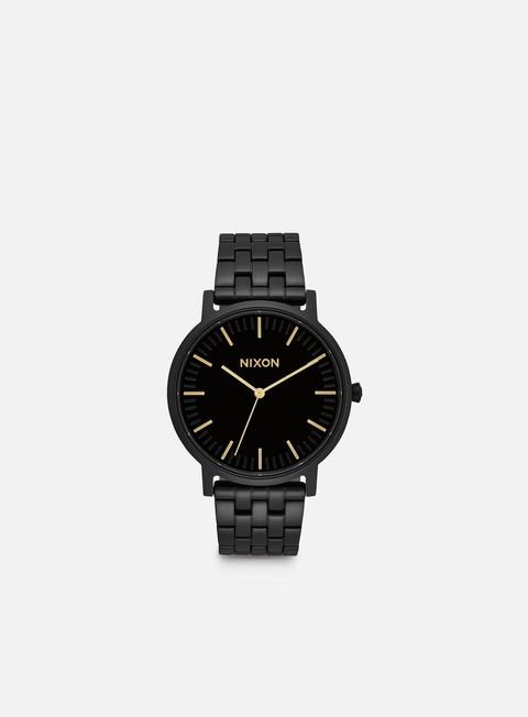 accessori nixon porter all black gold