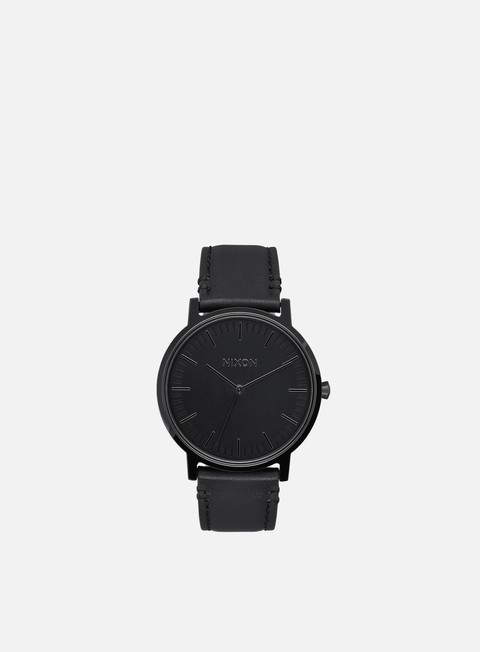 accessori nixon porter leather all black