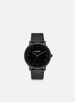 Nixon - Porter Leather, All Black/Black