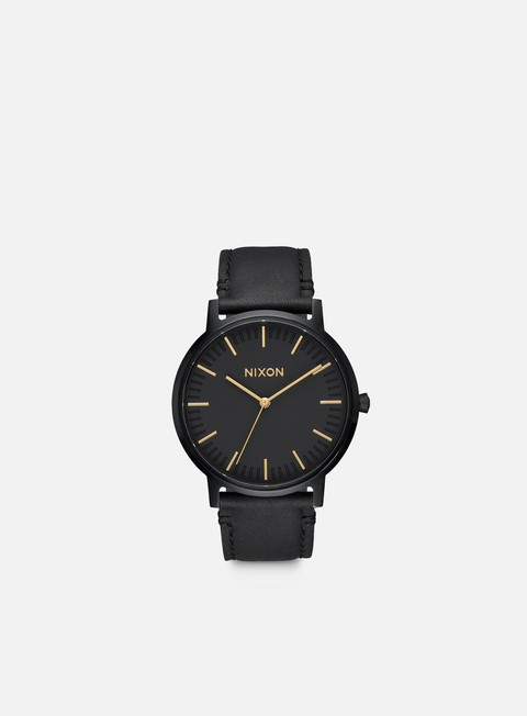accessori nixon porter leather all black gold