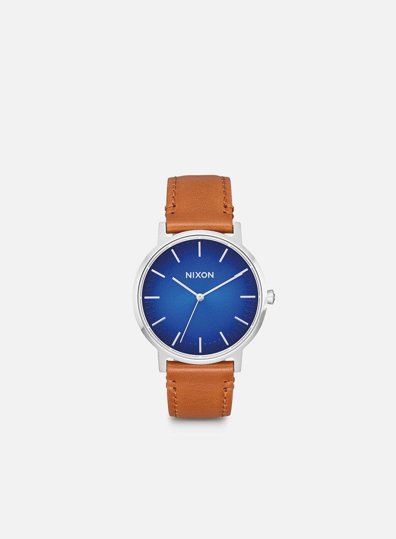 Nixon - Porter Leather, Blue Ombre/Saddle