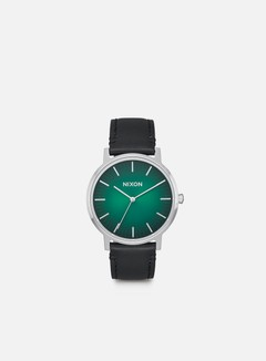 Nixon - Porter Leather, Green Ombre/Black