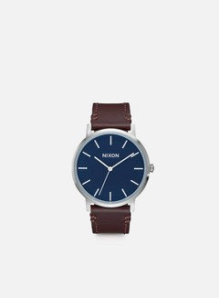 Nixon - Porter Leather, Navy/Brown 1