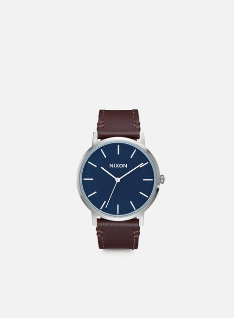 accessori nixon porter leather navy brown