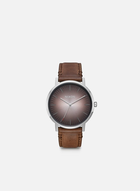 Sale Outlet Watches Nixon Porter Leather