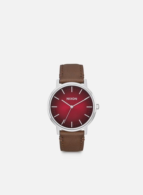 accessori nixon porter leather oxblood ombre taupe