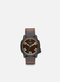 Nixon - Ranger 40 Leather, All Black/Brass/Brown