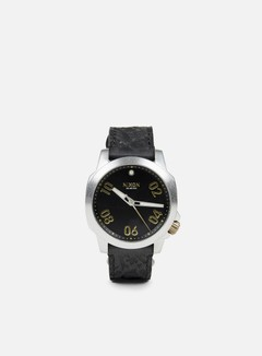 Nixon - Ranger 40 Leather, Black/Brass