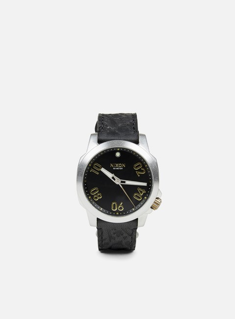accessori nixon ranger 40 leather black brass