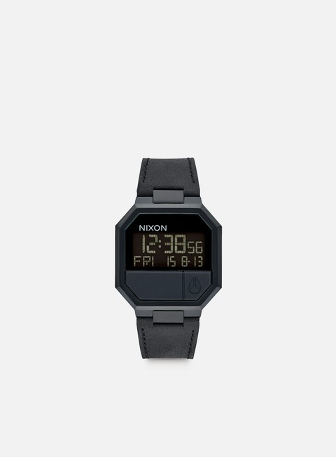 accessori nixon re run leather all black