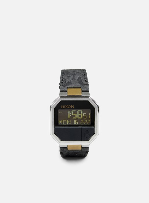 accessori nixon re run leather black brass