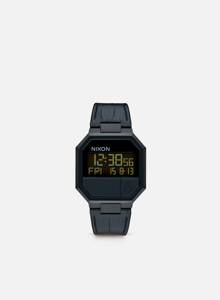 Nixon - Re-Run Leather, Black Croc