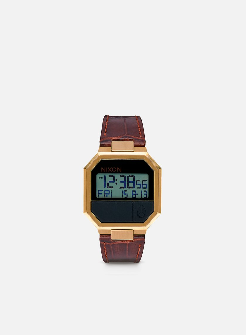Nixon - Re-Run Leather, Brown Croc