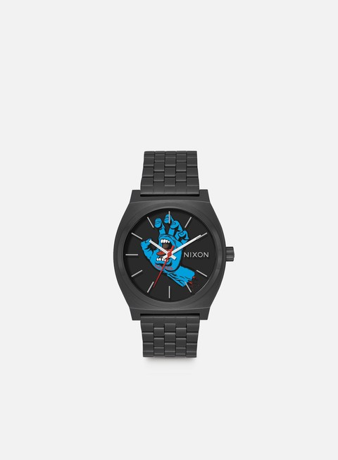 accessori nixon santa cruz time teller black screaming hand