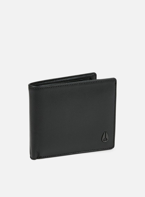 accessori nixon satellite big bill bi fold wallet all black