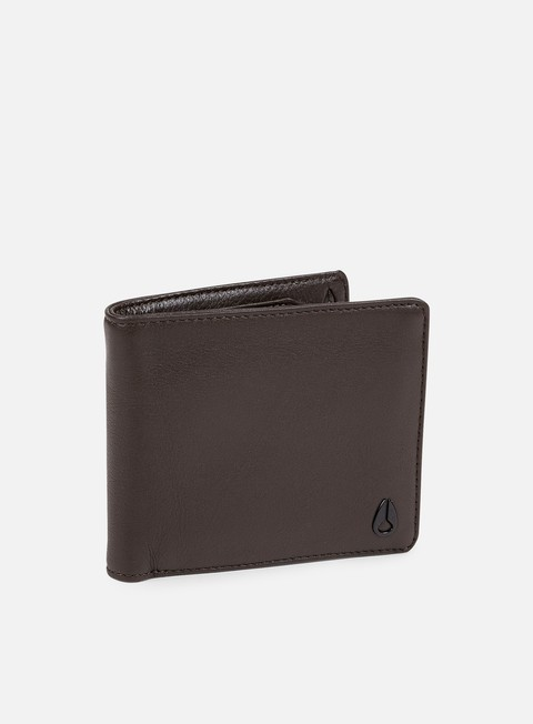 accessori nixon satellite big bill bi fold wallet brown