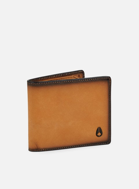 accessori nixon satellite big bill bi fold wallet tan