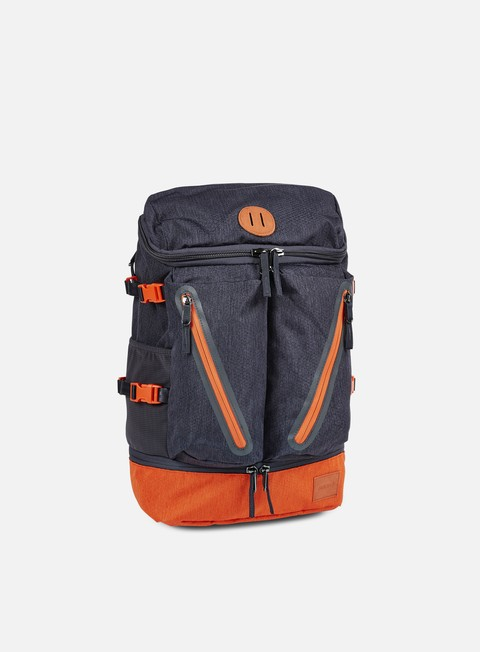 accessori nixon scripps backpack dark grey orange