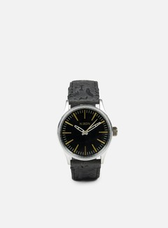 Nixon - Sentry 38 Leather, Black/Brass 1