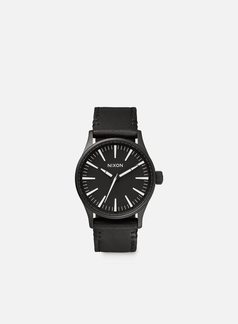 accessori nixon sentry 38 leather black white