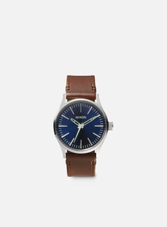 Nixon - Sentry 38 Leather, Blue/Brown