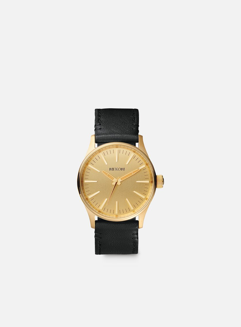 Nixon - Sentry 38 Leather, Gold/Black