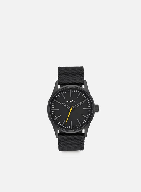 accessori nixon sentry 38 nylon all black