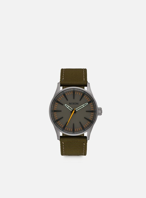 accessori nixon sentry 38 nylon gunmetal surplus