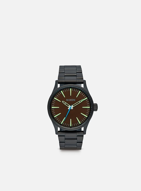 accessori nixon sentry 38 ss all black brown