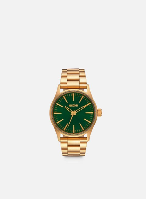 accessori nixon sentry 38 ss gold green sunray