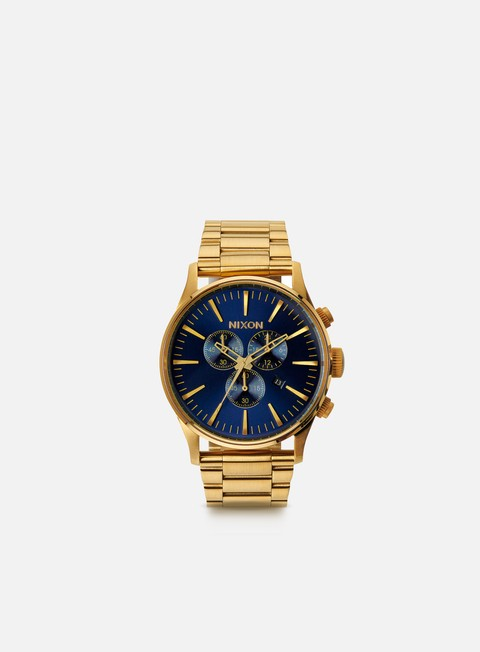 accessori nixon sentry chrono gold blue sunray