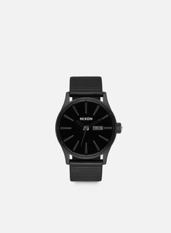 Nixon - Sentry Leather, All Black/Black