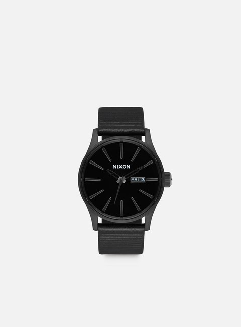 accessori nixon sentry leather all black black