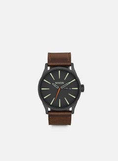 Nixon - Sentry Leather, Black/Lum/Taupe