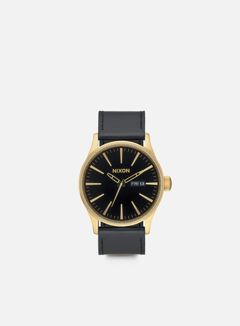 accessori nixon sentry leather gold black