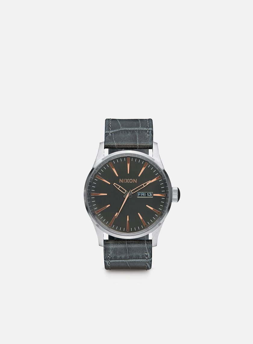 Nixon - Sentry Leather, Gray Gator