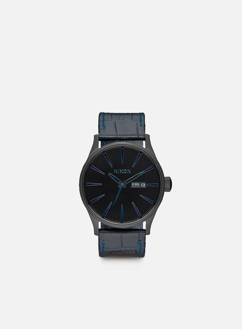 accessori nixon sentry leather navy gator