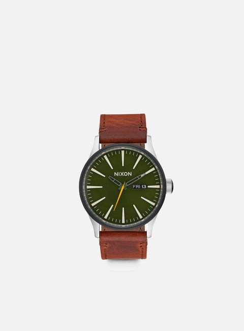 Sale Outlet Watches Nixon Sentry Leather