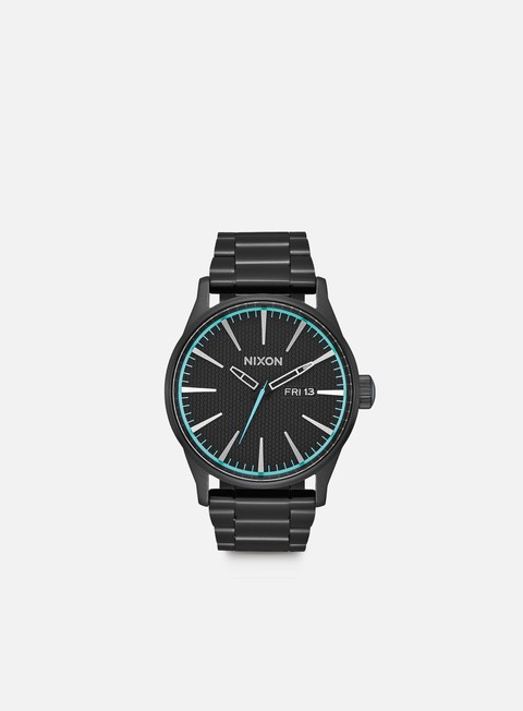 accessori nixon sentry ss all black blue